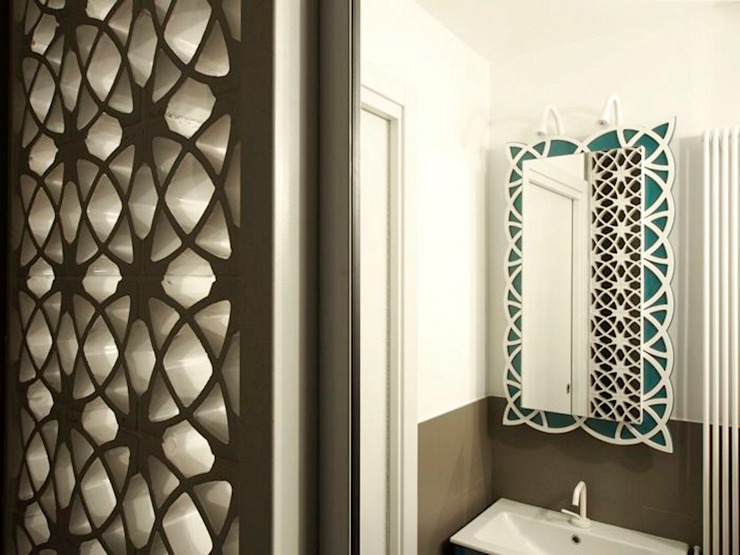 Casa BT Bagno in stile mediterraneo di Laboratorio di Progettazione Claudio Criscione Design Mediterraneo