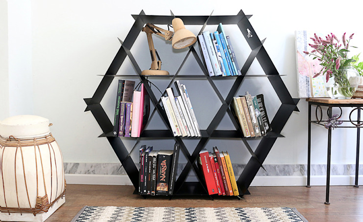 Living room by Ruche shelving unit