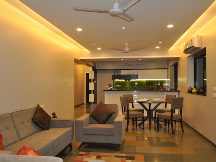 Modern Residence in Pali Hill: modern  by S K Designs,Modern