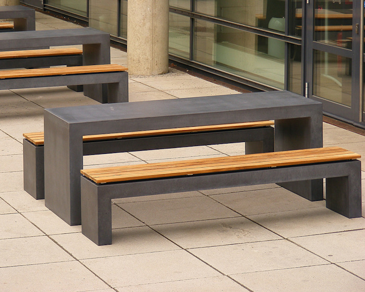 oggi-beton Balcones, porches y terrazasMobiliario Concreto