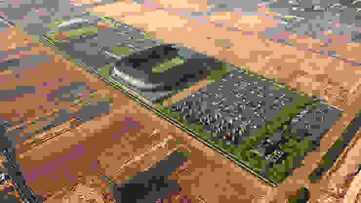 New Al Russafa Stadium in Baghdad. 30K 根據 Javier Garcia Alda arquitecto