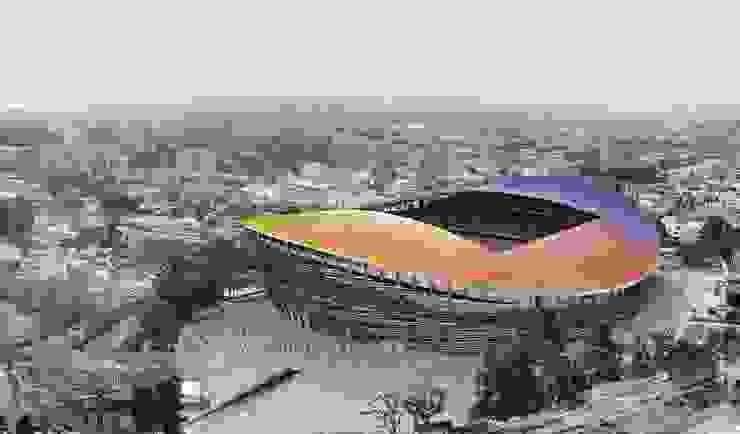 Nuevo estadio nacional de Libia en Trípoli. 55K de Javier Garcia Alda arquitecto