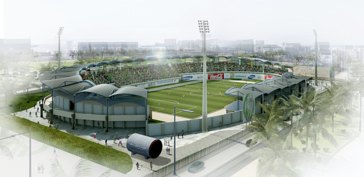 ​Rehabilitación del Great man made river estadio en Tripoli. 5K de Javier Garcia Alda arquitecto