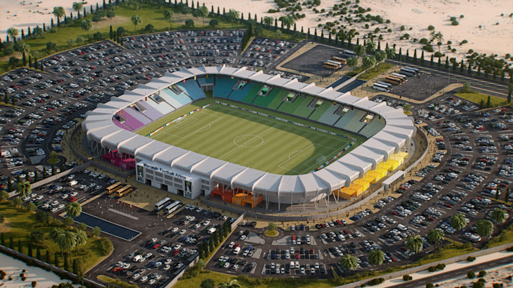 Nuevo Estadio de Misratah en Libia. 20K de Javier Garcia Alda arquitecto