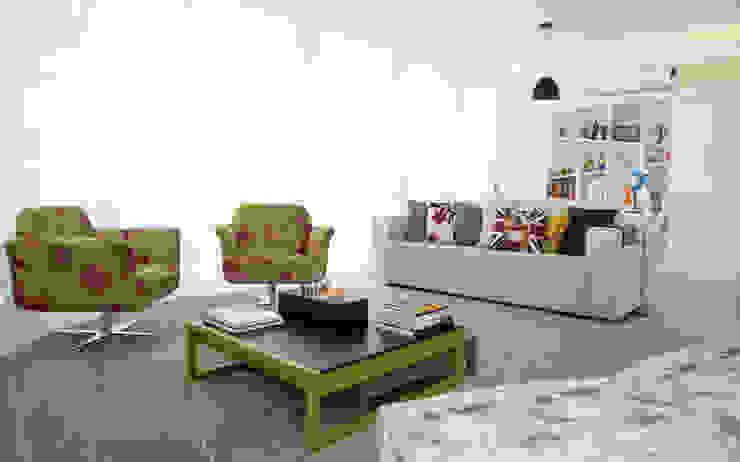现代客厅設計點子、靈感 & 圖片 根據 Tikkanen arquitetura 現代風