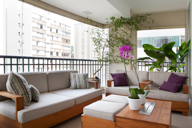 Higienópolis Varandas, alpendres e terraços modernos por Tikkanen arquitetura Moderno