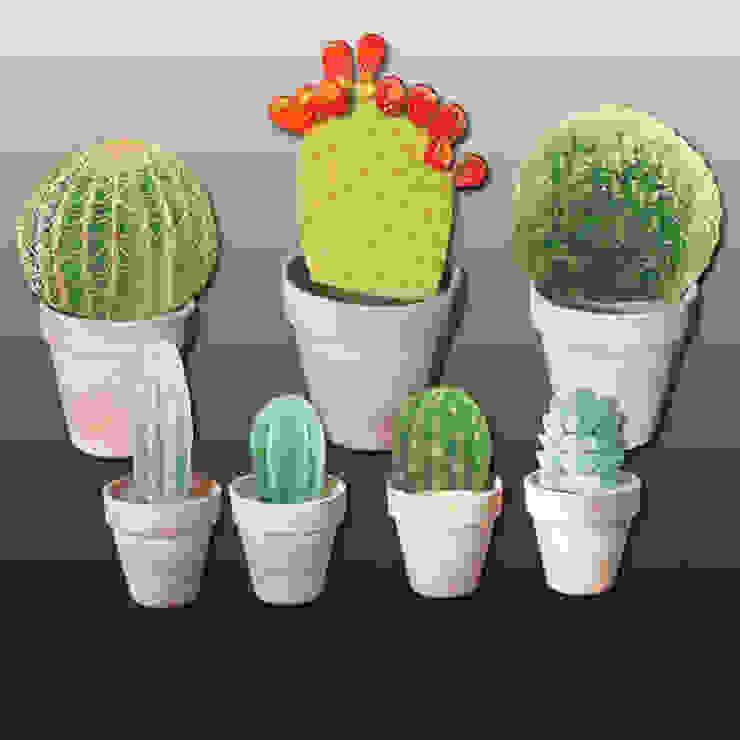 cactus et buis par Rondeur des Jours Éclectique