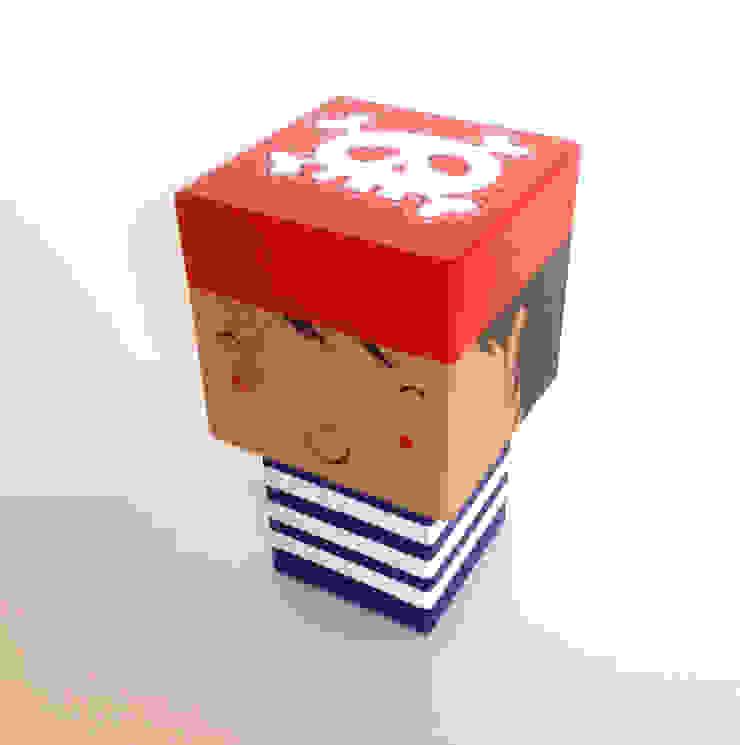 Poupée Pirate cubique par Madammag Minimaliste