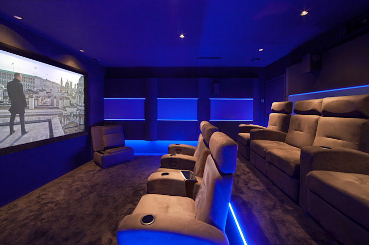 Multimedia room by Dynamic Home Cinéma,