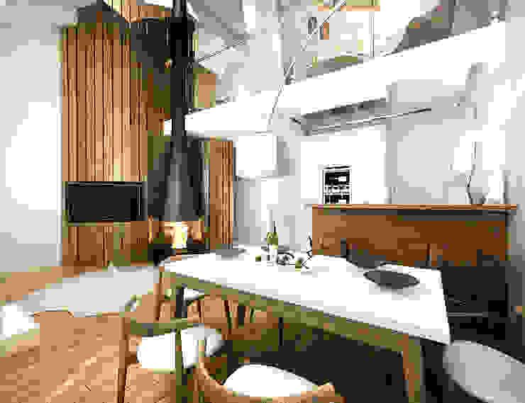 Кухня-Гостиная Гостиная в стиле лофт от homify Лофт