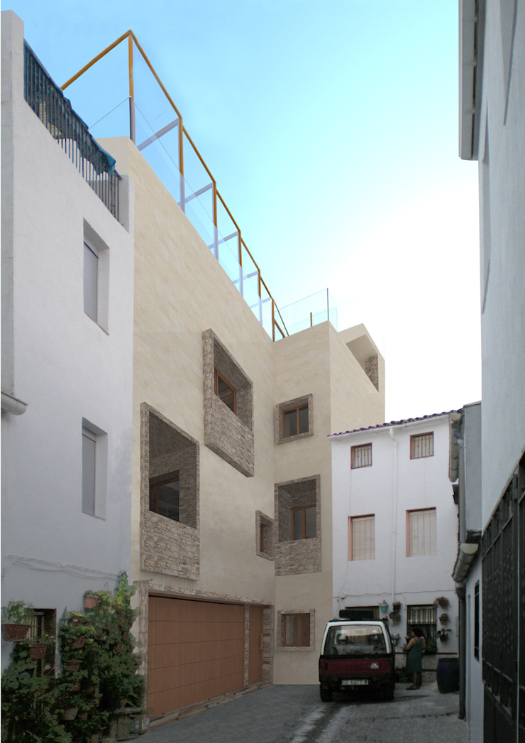 Vivienda unifamiliar en Bélmez de la Moraleda de Ricardo ortega & Asociados. Arquitectos Moderno