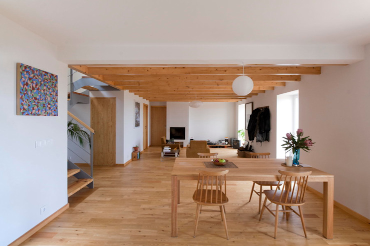 Quinta H | eco-renovation | Madeira Rustic style dining room by Mayer & Selders Arquitectura Rustic