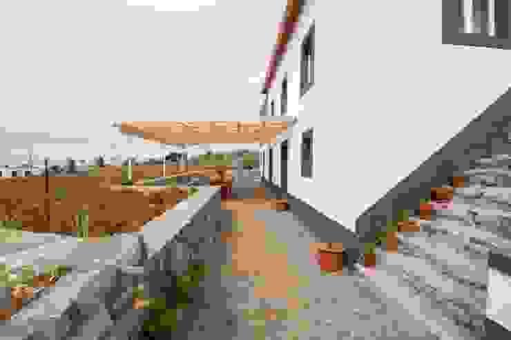 Quinta H | eco-remodelação| Madeira: Terraços  por Mayer & Selders Arquitectura