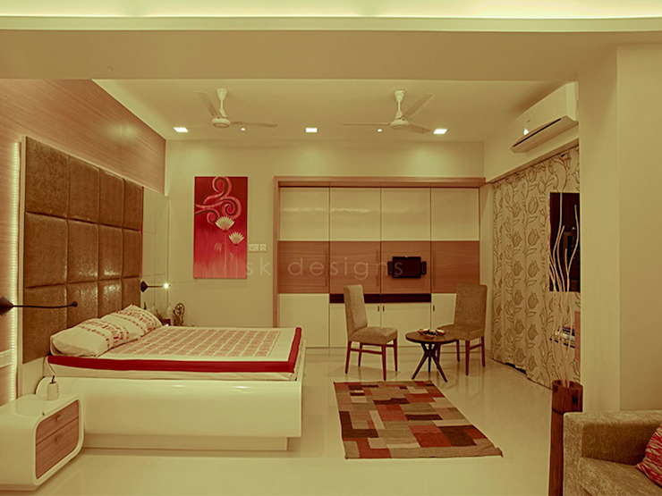 s k designs - contemporary residence in Andheri Bedroom by S K Designs
