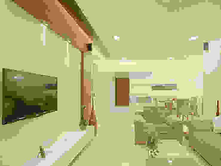 s k designs - contemporary residence in Andheri Modern living room by S K Designs Modern