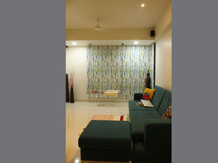 s k designs - contemporary residence in Kandivali Modern living room by S K Designs Modern
