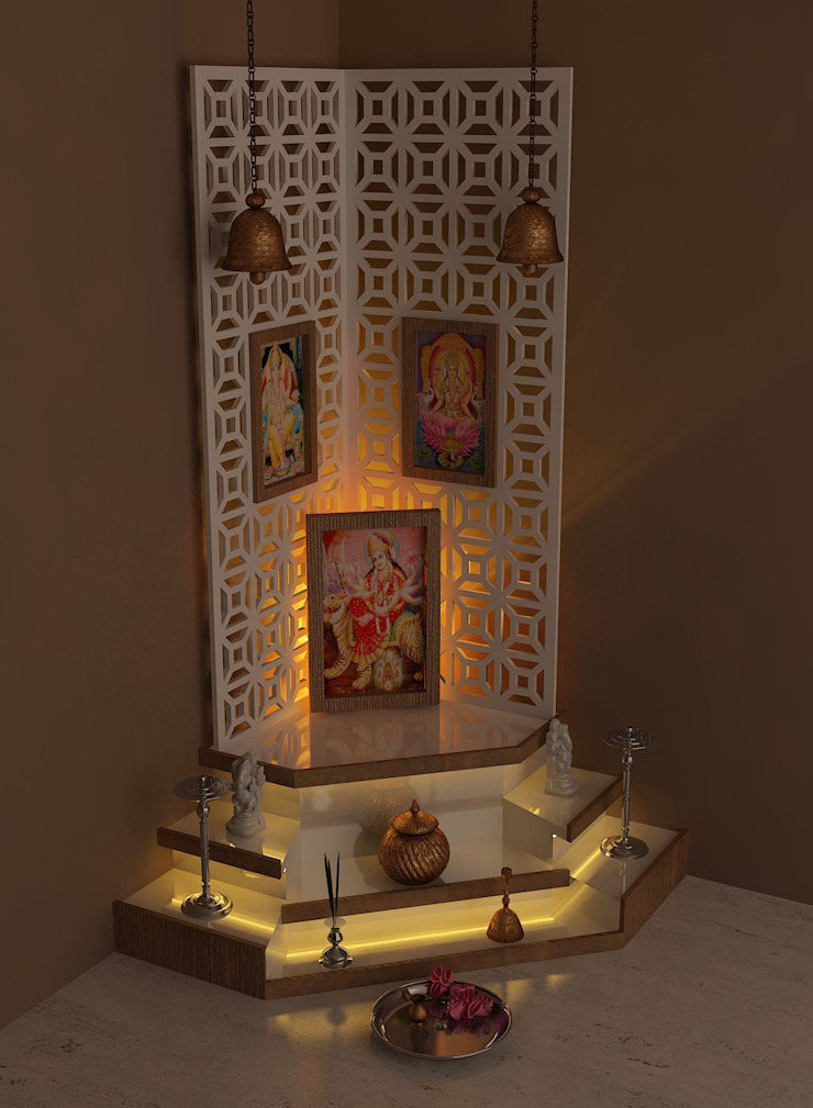 pooja room: modern  by Drashtikon designer consultant (kamal maniya),Modern