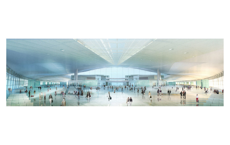 New Satellite Terminal Building at Barcelona Airport de Ricardo Bofill Taller de Arquitectura