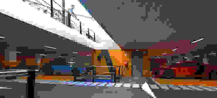 Parking subterraneo en Madrid de Javier Garcia Alda arquitecto