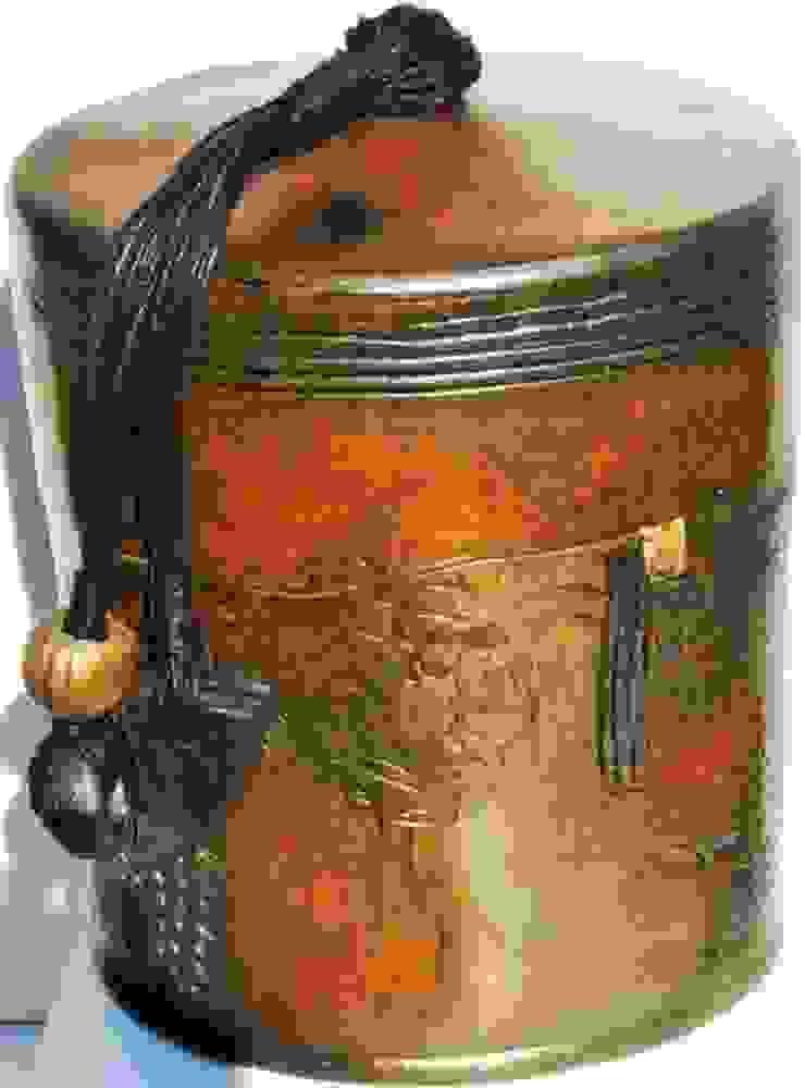 boîte céramique sigillée 27cm x 23 cm par nadine lebas TERRA SIG Éclectique