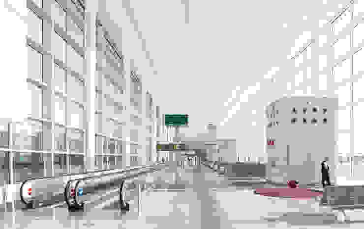 Terminal 1 at Barcelona Airport de Ricardo Bofill Taller de Arquitectura