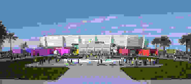 Pabellón polideportivo de Benghazi. 5.5K de Javier Garcia Alda arquitecto