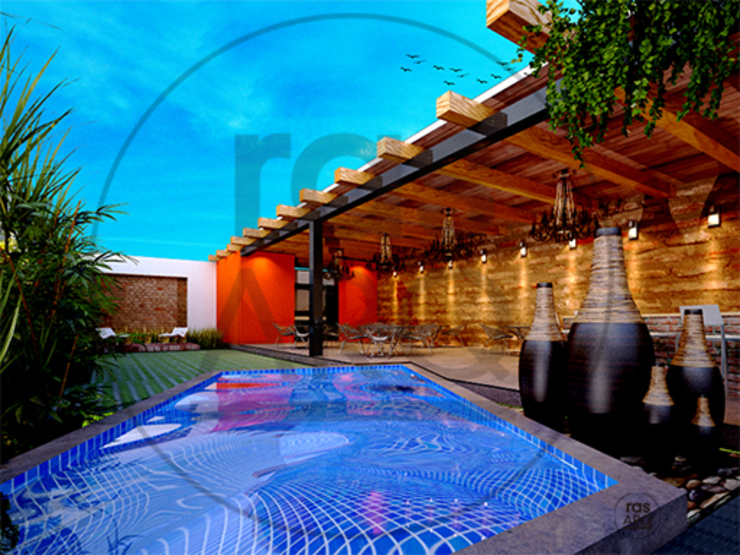 Eclectic style pool by rasARQ Eclectic