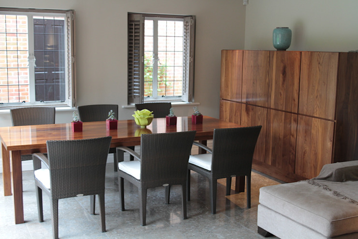 Black Walnut Super Stave Table With Recessed Handle Walnut Cupboard by NAKED Kitchens