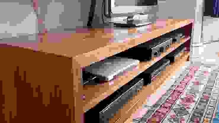 Appalachian Hardwood AV Unit by NAKED Kitchens