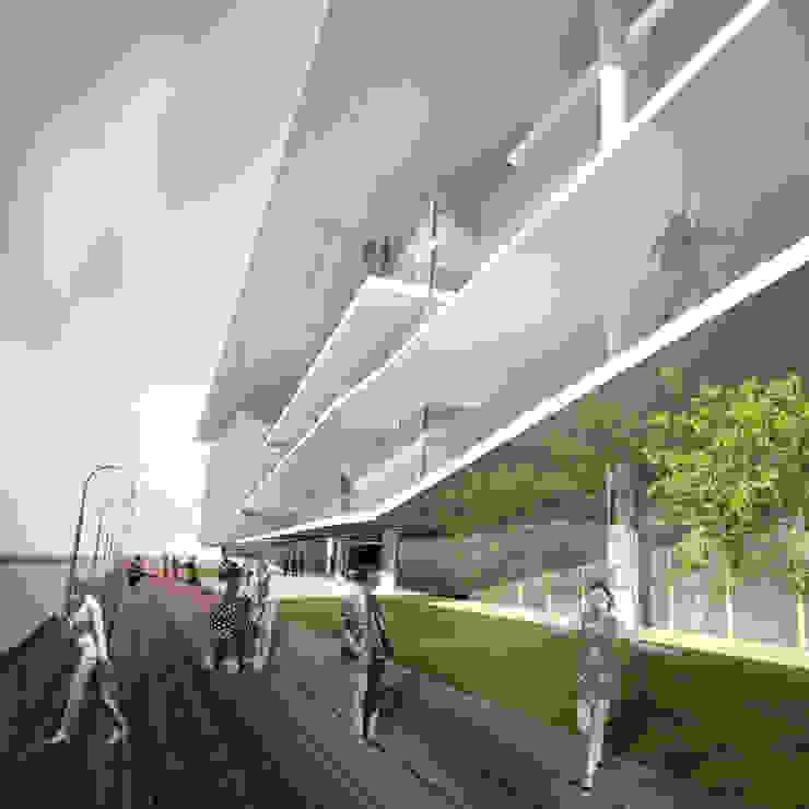 Acesso principal por Paula Werneck Arquitetura Moderno