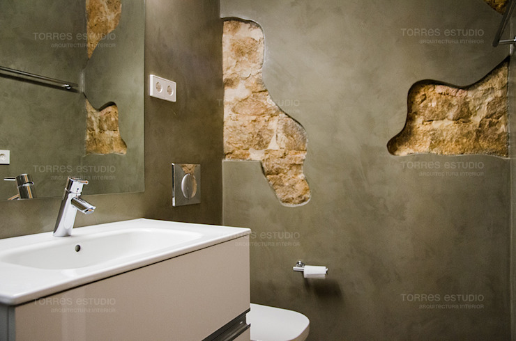 Bathroom by Torres Estudio Arquitectura Interior, Rustic