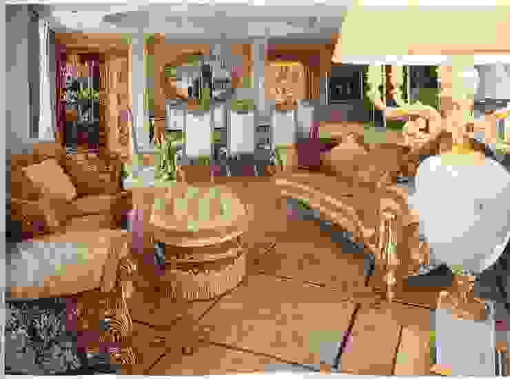 Hermitage Collection, curved sofas with pouf di Lunardelli Egidio srl Classico