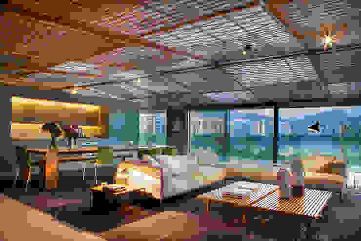 Loft Tropical - Casa Cor 2014 Salas de estar modernas por Gisele Taranto Arquitetura Moderno