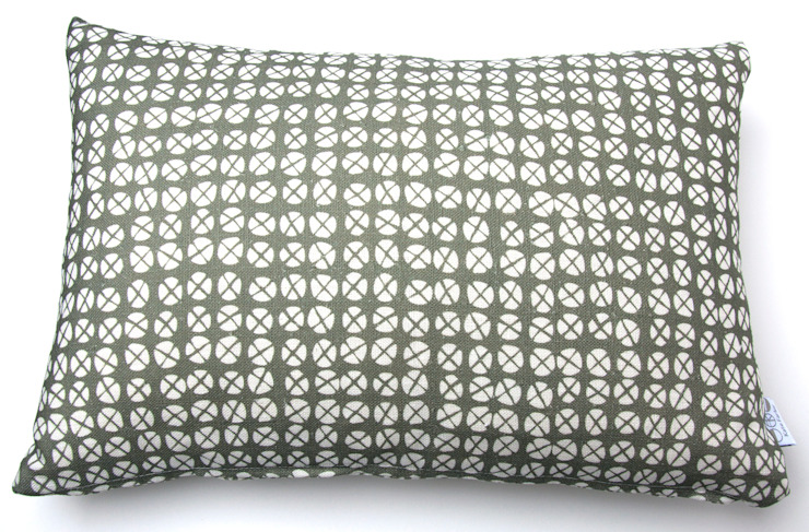 Plot to Plate XO oblong cushion by Kate Farley: modern  by Kate Farley, Modern