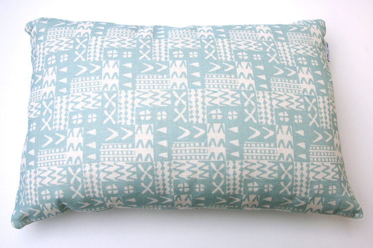 Plot to Plate XXVV oblong cushion by Kate Farley: modern  by Kate Farley, Modern