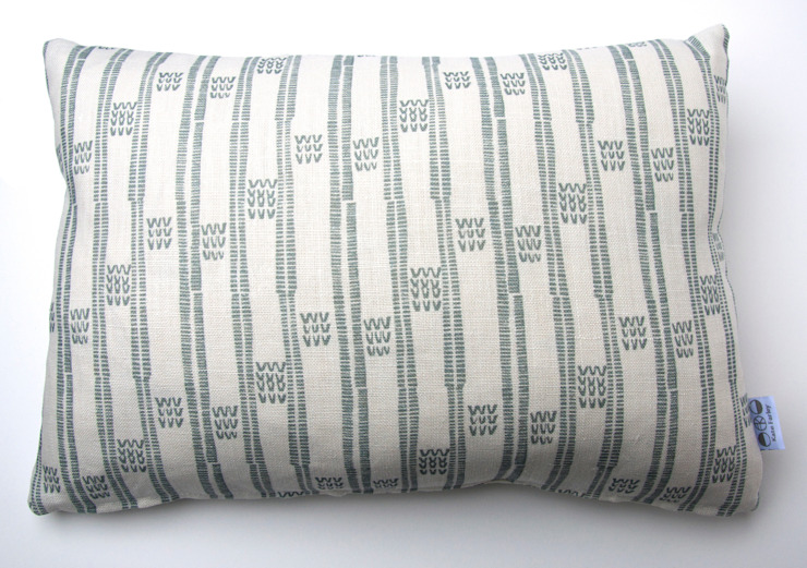 Plot to Plate VVV oblong cushion by Kate Farley: modern  by Kate Farley, Modern