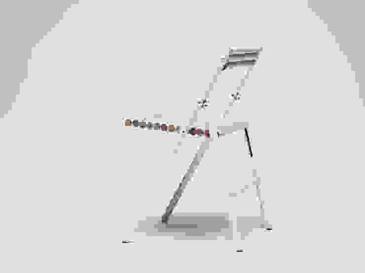STEEL klapstoel: modern  door Reinier de Jong Design, Modern