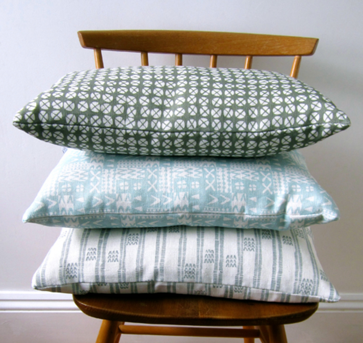 Plot to Plate printed cushion collection by Kate Farley: modern  by Kate Farley, Modern