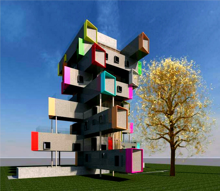 Container Housing: industrial  by MODI SRIVASTAVA AND ASSOCIATES,Industrial