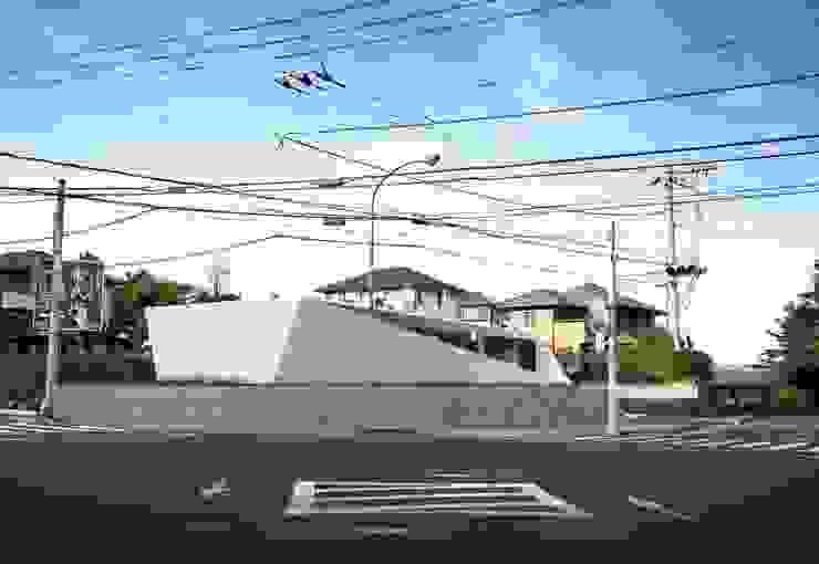 交差点 モダンな 家 の 後藤武建築設計事務所 モダン