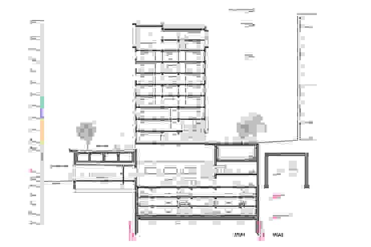 M6A1 Gastronomie moderne par JB Lacoudre Architectures Moderne