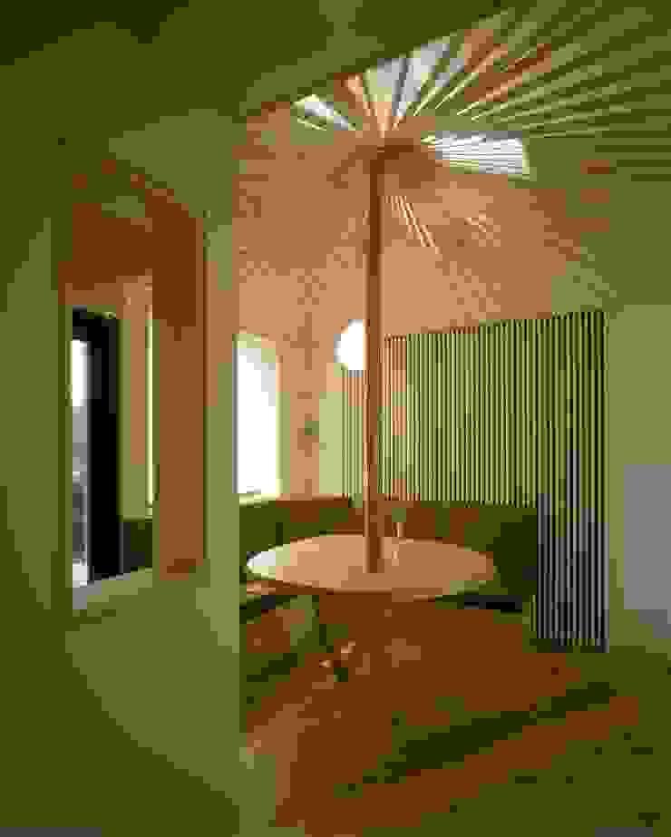玄関ホール1 モダンデザインの 多目的室 の 牧野建築計画 モダン
