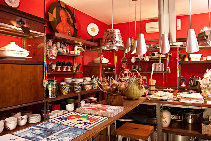 Rustic style offices & stores by Olhar o Brasil Rustic