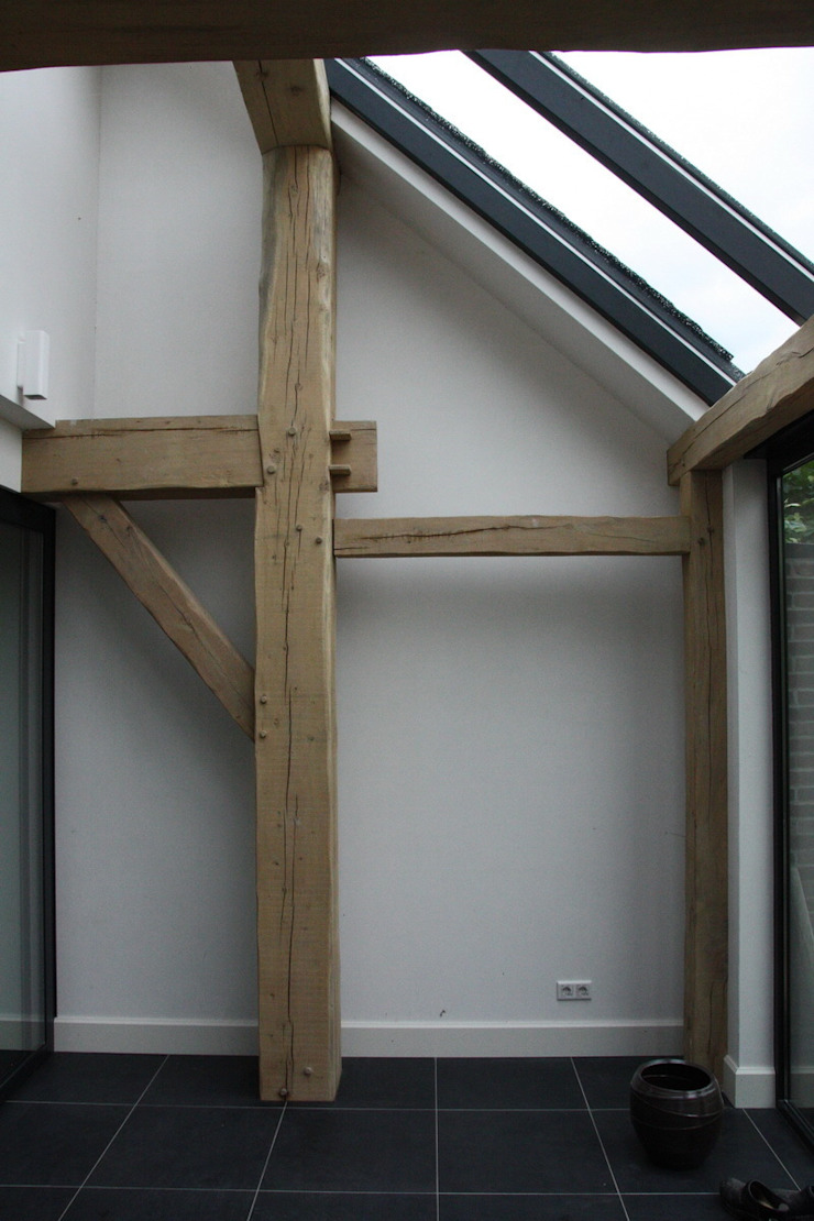 Verbouw stal bij boerderij Moderne serres van Architectenbureau Jules Zwijsen Modern