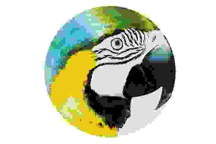 Sous Plat Arara Barriga Amarela:  tropical por Olhar o Brasil,Tropical