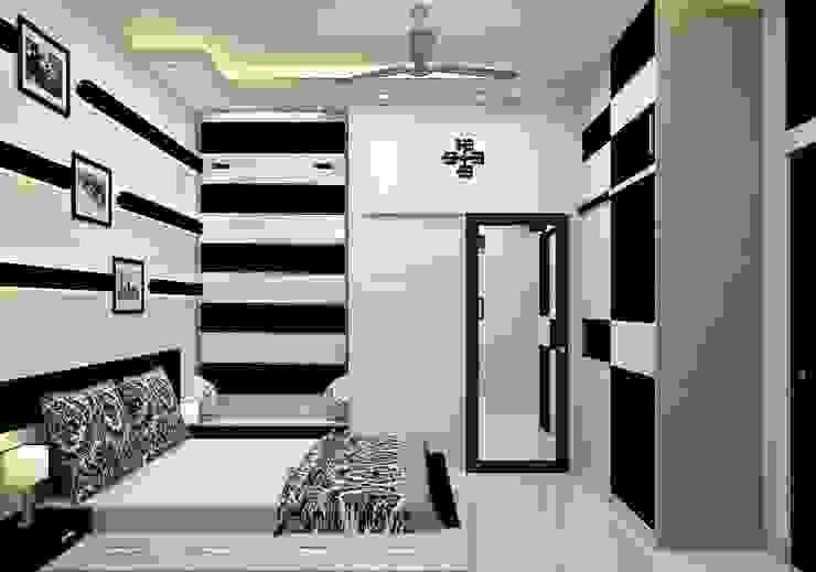 Bedroom No. 1 by Universal Pride Interiors Pvt. Ltd.
