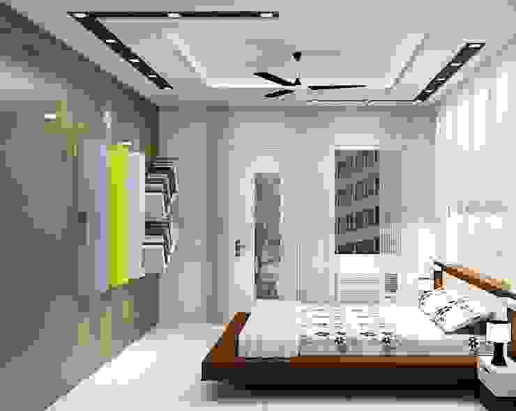 Bedroom No. 2 by Universal Pride Interiors Pvt. Ltd.