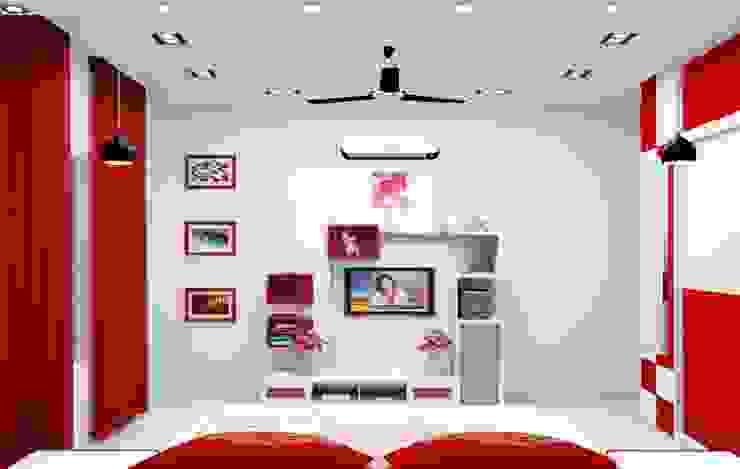 Bedroom No. 3 by Universal Pride Interiors Pvt. Ltd.