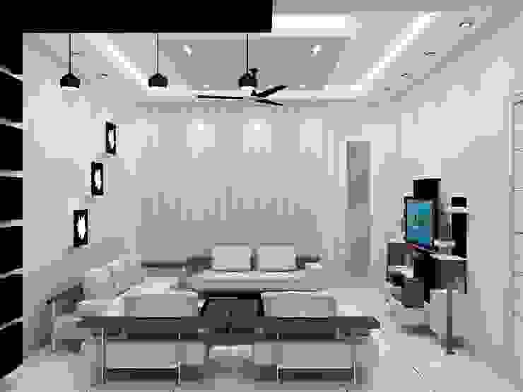Living Area by Universal Pride Interiors Pvt. Ltd.