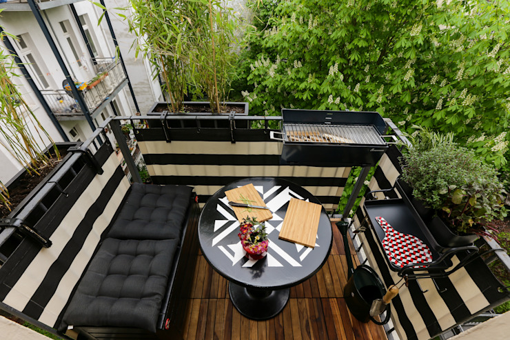 2 QM BALKON IM KAROVIERTEL, HAMBURG DIE BALKONGESTALTER Balkon, Veranda & TerrasseAccessoires und Dekoration